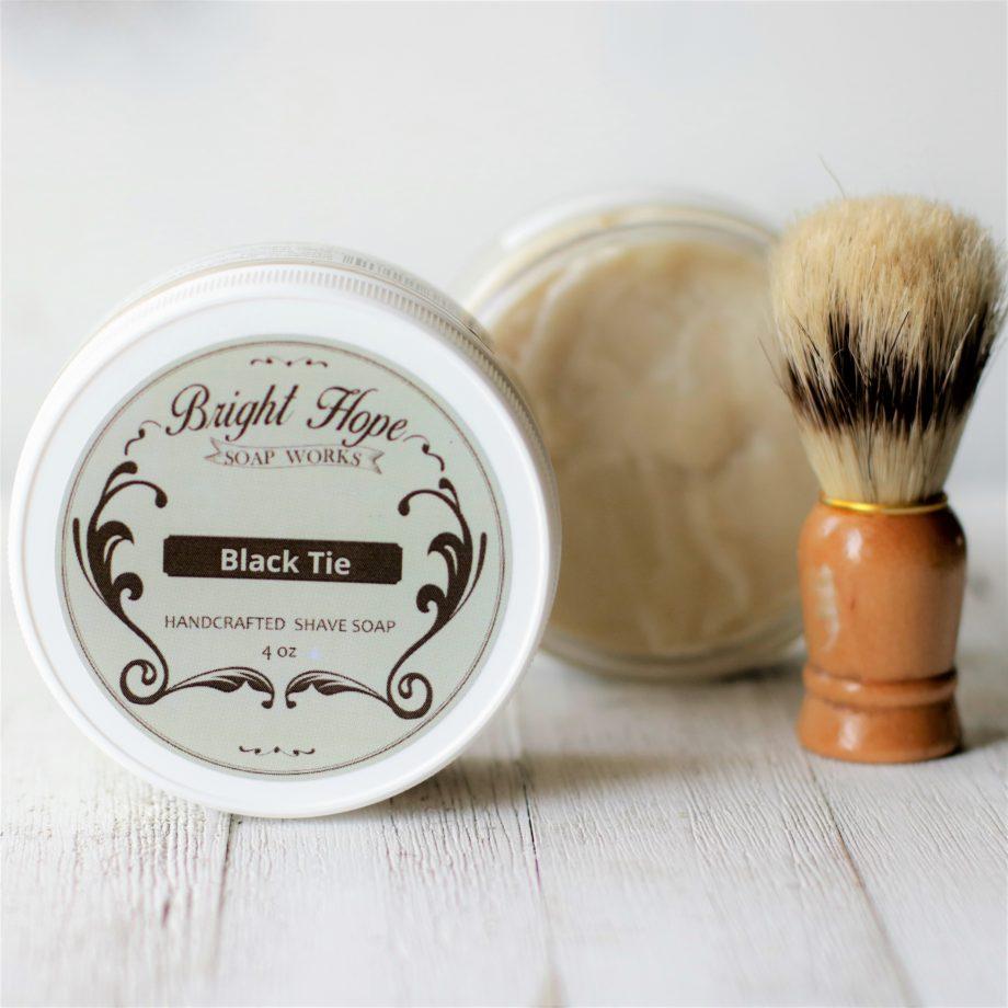 black tie shave soap
